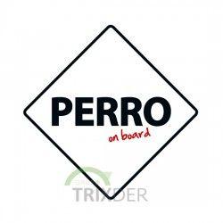 """SEÑAL """"PERRO  ON BOARD"""" PARA COCHES"""