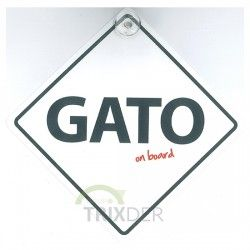 "SEÑAL ""GATO ON BOARD"" PARA COCHES"